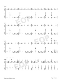 Congratulations-Pewdiepie-Numbered-Musical-Notation-Preview-3