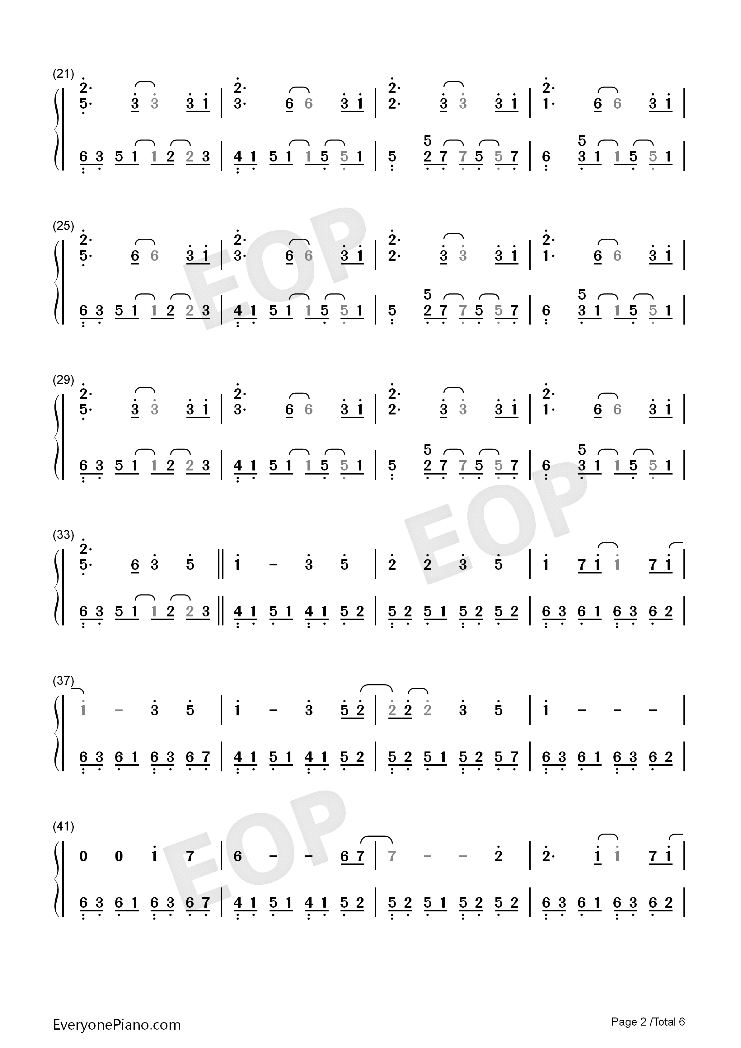 Take Me Hand-Perfect Version Numbered Musical Notation Preview 2