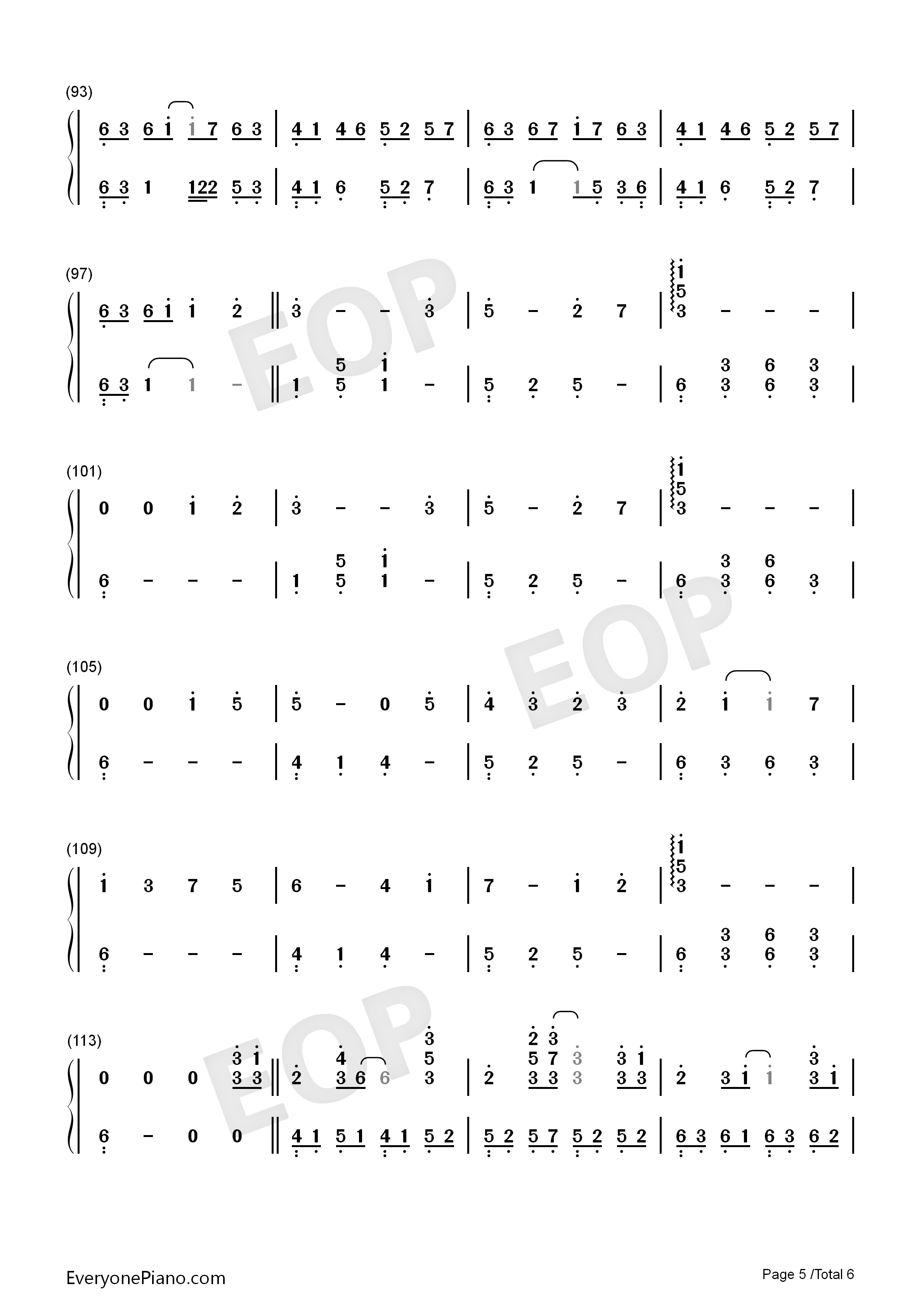 Take Me Hand-Perfect Version Numbered Musical Notation Preview 5