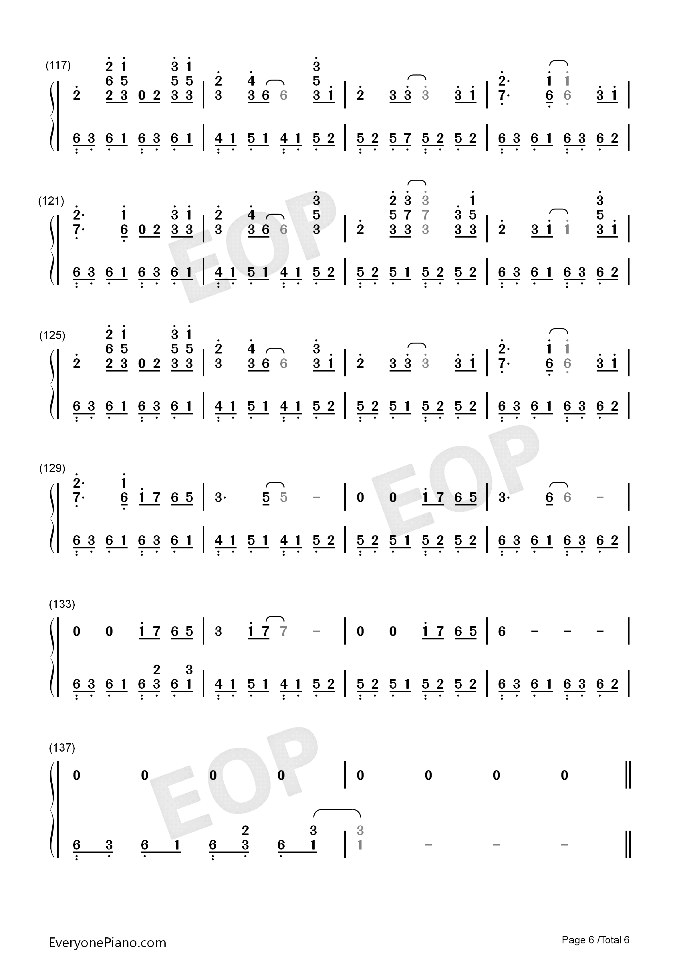 Take Me Hand-Perfect Version Numbered Musical Notation Preview 6