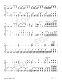 Fudō no Yamagami~Gammoth-Monster Hunter XX BGM-Numbered-Musical-Notation-Preview-2