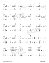 Rockstar-A Great Big World Numbered Musical Notation Preview 3