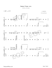 Xanny-Billie Eilish-Numbered-Musical-Notation-Preview-1