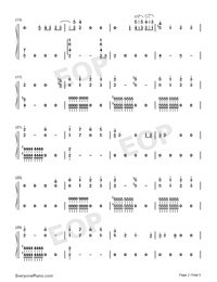 Xanny-Billie Eilish-Numbered-Musical-Notation-Preview-2
