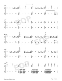 Xanny-Billie Eilish-Numbered-Musical-Notation-Preview-3