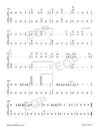 Xanny-Billie Eilish-Numbered-Musical-Notation-Preview-5