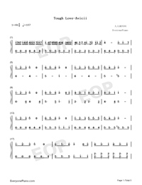 Tough Love-Avicii-Numbered-Musical-Notation-Preview-1