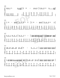Tough Love-Avicii-Numbered-Musical-Notation-Preview-2