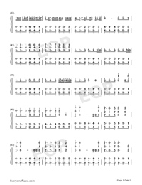 Tough Love-Avicii-Numbered-Musical-Notation-Preview-3