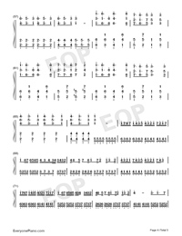 Tough Love-Avicii-Numbered-Musical-Notation-Preview-4