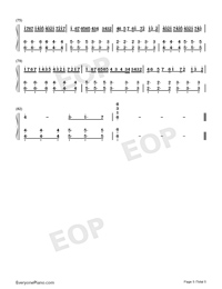 Tough Love-Avicii-Numbered-Musical-Notation-Preview-5