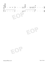 Bon Kyu Bon wa Kare no Mono-Why the Hell are You Here Teacher OP-Numbered-Musical-Notation-Preview-4