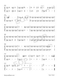 私の成長に伴って-お兄ちゃんどっか行け主題歌両手略譜プレビュー3