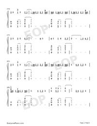Heaven-Avicii ft Chris Martin両手略譜プレビュー2