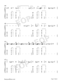 Heaven-Avicii ft Chris Martin両手略譜プレビュー4