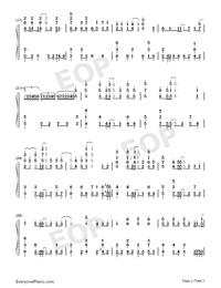 グレイ-モブサイコ100第2期ED両手略譜プレビュー2