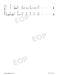 グレイ-モブサイコ100第2期ED両手略譜プレビュー3