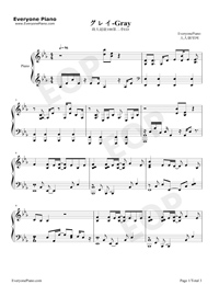 グレイ-モブサイコ100第2期ED五線譜プレビュー1