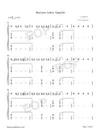 Bruises-Lewis Capaldi-Numbered-Musical-Notation-Preview-1