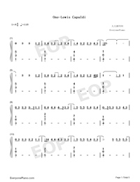 One-Lewis Capaldi-Numbered-Musical-Notation-Preview-1