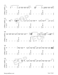 One-Lewis Capaldi Numbered Musical Notation Preview 2