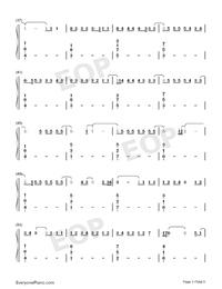 One-Lewis Capaldi-Numbered-Musical-Notation-Preview-3