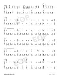 芬芳一生-完美獨奏版雙手簡譜預覽3