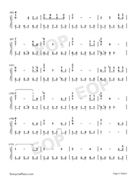 芬芳一生-完美獨奏版雙手簡譜預覽5
