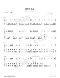 錦鯉抄-原版雙手簡譜預覽1