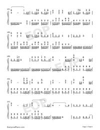 錦鯉抄-原版雙手簡譜預覽3
