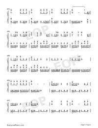 錦鯉抄-原版雙手簡譜預覽5