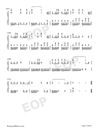 錦鯉抄-原版雙手簡譜預覽6