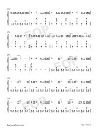 天国からの悪魔-完璧ピアノ版両手略譜プレビュー2