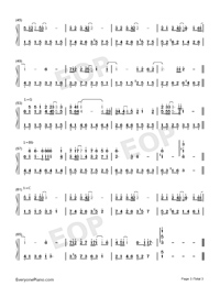 Forever Friends-Fireworks OST Numbered Musical Notation Preview 3