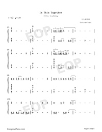 In This Together-Our Planet Theme-Numbered-Musical-Notation-Preview-1