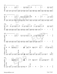 In This Together-Our Planet Theme-Numbered-Musical-Notation-Preview-3