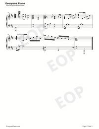 やりがいのある仕事-世界一初恋OST五線譜プレビュー3