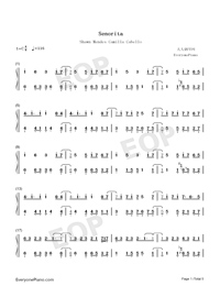 Señorita-Shawn Mendes and Camila Cabello-Numbered-Musical-Notation-Preview-1