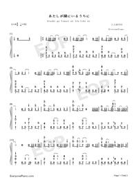Atashi ga Tonari ni Iru Uchi ni-The Rising of the Shield Hero ED-Numbered-Musical-Notation-Preview-1