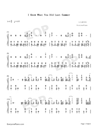 I Know What You Did Last Summer-Numbered-Musical-Notation-Preview-1