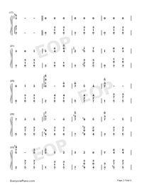 Merry-Go-Round of Life-Full Version-Numbered-Musical-Notation-Preview-2