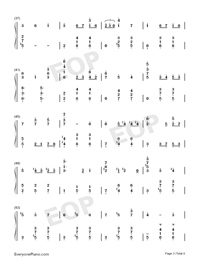 Merry-Go-Round of Life-Full Version-Numbered-Musical-Notation-Preview-3