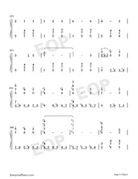 Merry-Go-Round of Life-Full Version-Numbered-Musical-Notation-Preview-4
