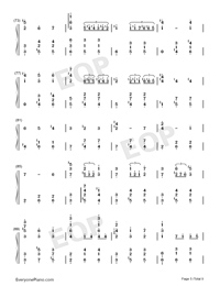 Merry-Go-Round of Life-Full Version-Numbered-Musical-Notation-Preview-5