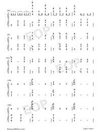 Merry-Go-Round of Life-Full Version-Numbered-Musical-Notation-Preview-6