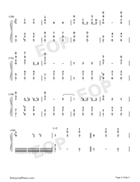 Merry-Go-Round of Life-Full Version-Numbered-Musical-Notation-Preview-8