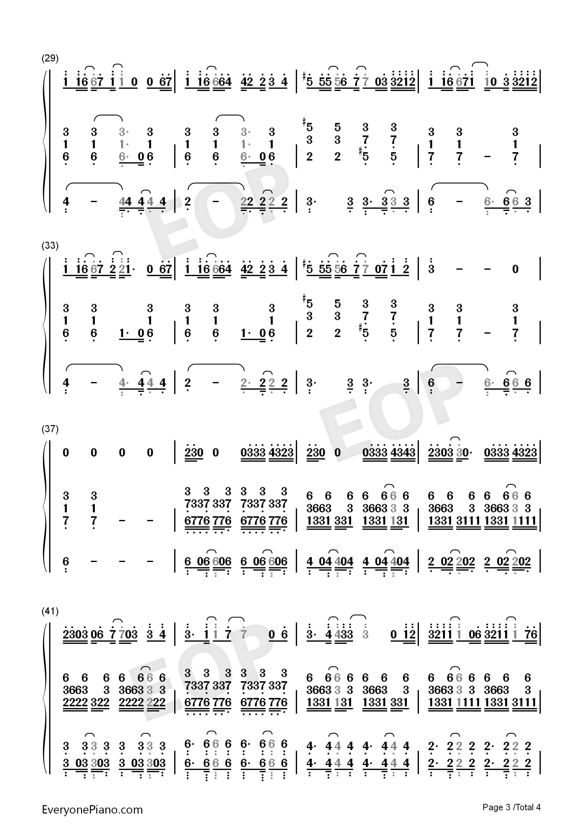 A.I.N.Y.-G.E.M. Numbered Musical Notation Preview 3