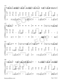 A.I.N.Y.-G.E.M. Numbered Musical Notation Preview 2