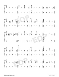 Love Will Find A Way-The Lion King II Simba's Pride OST Numbered Musical Notation Preview 3