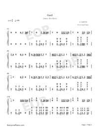 Cool-Jonas Brothers-Numbered-Musical-Notation-Preview-1